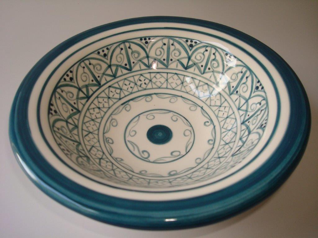 medium moroccan bowl teal